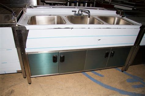 Three Compartment Kitchen Sink 3 Compartment Self Contained Kitchen Sink Ebay