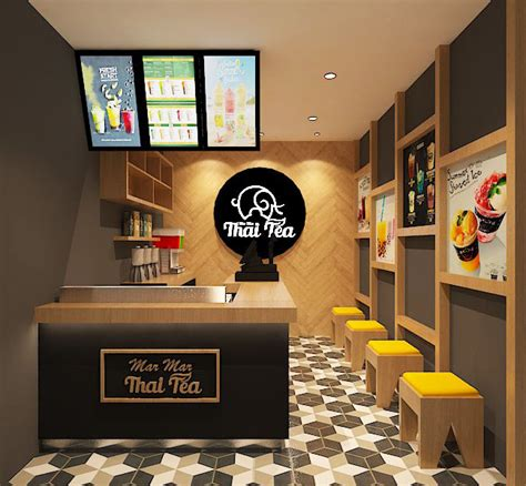 sribu desain booth desain interior  thai tea