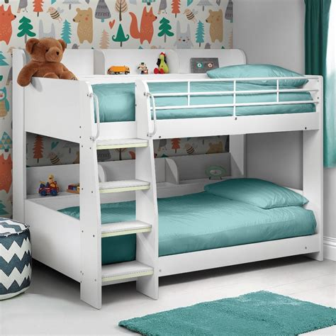 Bunk Bed by Julian Bowen Domino White Wooden Bunk Bed