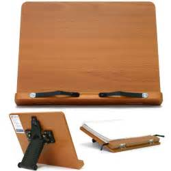 book stand portable wooden reading desk cookbook holder t