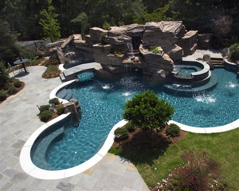 inground pool waterfalls inground pools with waterfalls backyard design ideas