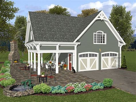 garage plans with porch garage loft plans two car garage loft plan with covered porch design 007g 0004 at