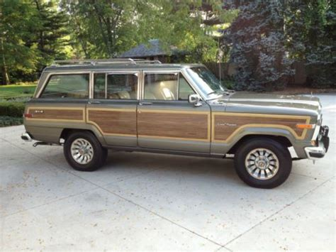1987 Jeep Grand Wagoneer Mpg Find Used 1987 Jeep Grand Wagoneer Base Sport Utility 4
