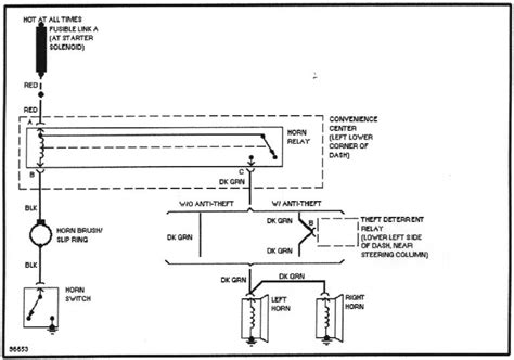 horn wiring schematic for circuit horn free engine image