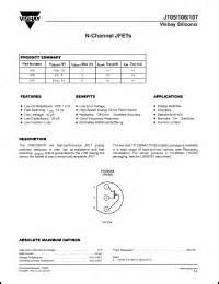 transistor jfet j105 datasheet for j105 n channel jfet j105 pdf 1 000 000 datasheets for electronic components