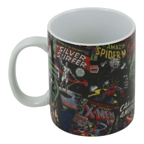 Mug Keramik Ceramic Marvel Original marvel black comic covers boxed mug ceramic coffee cup tea