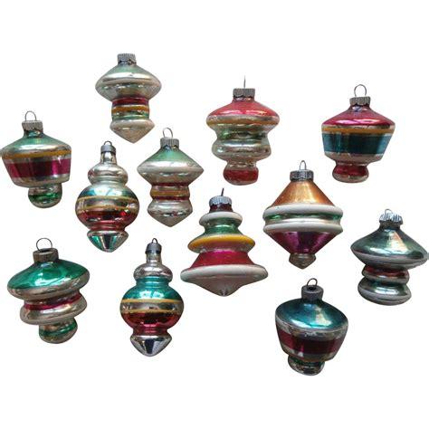 vintage space age shiny brite etc glass ornaments