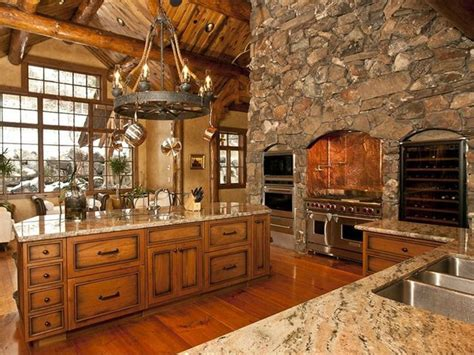 beautiful rustic kitchens on pinterest rustic dining room tables country kitchen designs and log home luxury kitchen perfect rustic retreats