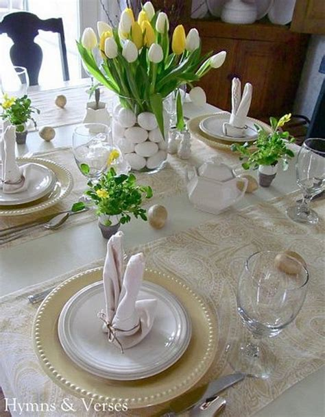 Easter Table Settings by 60 Easter Table Decorations Decoholic