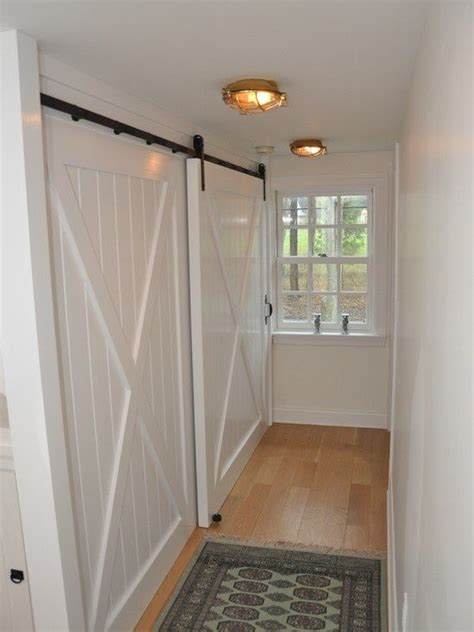 hallway closet doors 31 best images about bypass barn door inspirations on