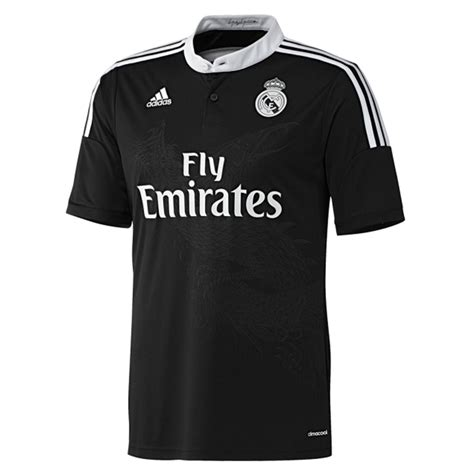Jersey Madrid 3rd adidas real madrid third youth 14 15 replica soccer jersey black white