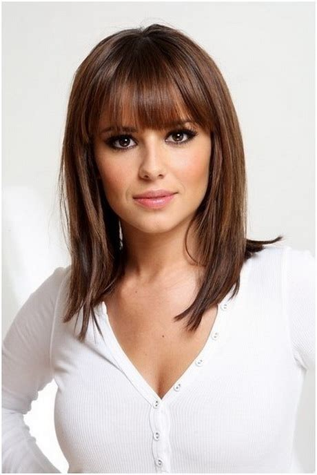 medium length piecy hair pictures of medium length haircuts with bangs
