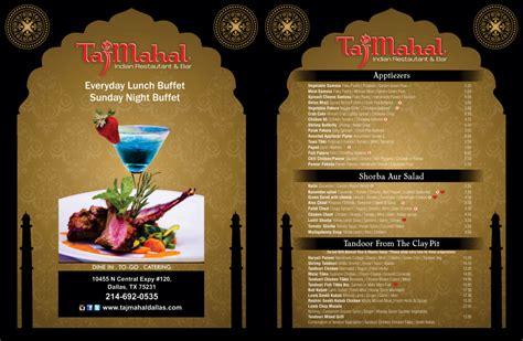 Menu Card Design For Indian Restaurant menu card tajmahal indian restaurant bar 171 avk
