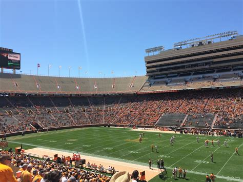 neyland stadium visitors section neyland stadium section a rateyourseats com