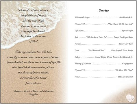 blank funeral program template best agenda templates
