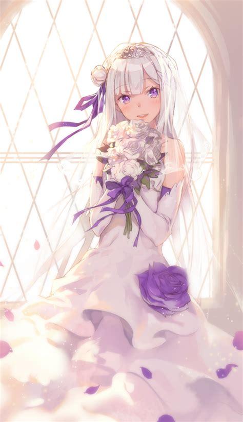 subaru and emilia married emilia re zero 2010878 zerochan