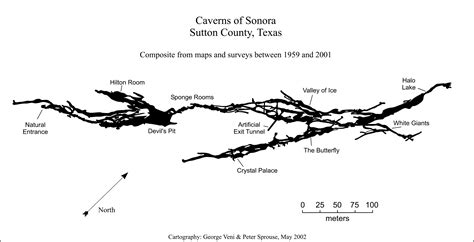 texas caves map caverns of sonora texas speleological survey tss cave records publications national