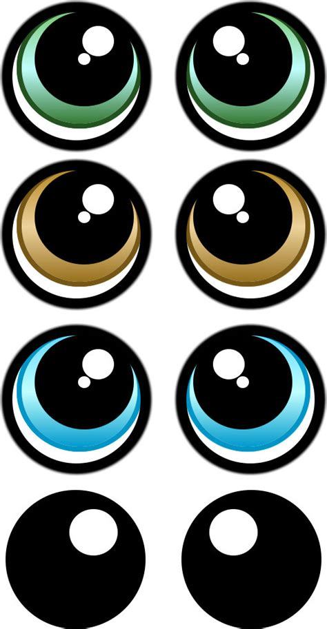 Printable Eye Stickers | print your own eye stickers template pack por