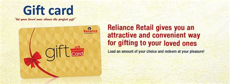 Retail Gift Card - relianceone reliance retail gift card