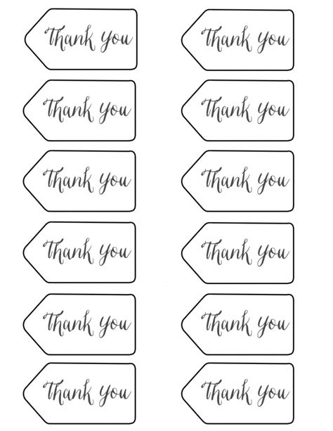 free printable thank you tags template styled x3 branch twig pencils risenmay
