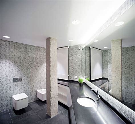 Pillar Designs For Home Interiors Luxury Home Designs Concrete Pillar Brings Visual Contrast Mosaic Glass Tile Backsplash Clean