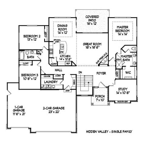 single family homes floor plans hidden valley sf floor plan by glen homes dakota glen in