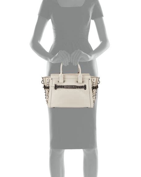 Coach Swagger 27 In Glovetanned Leather With Willow Floral coach swagger 27 satchel in glovetanned leather with
