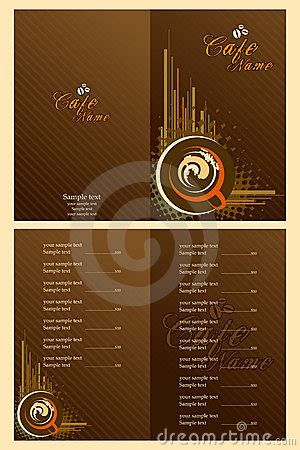 Note Card Cafe Template by Cafe Menu Card Template Royalty Free Stock Photos Image