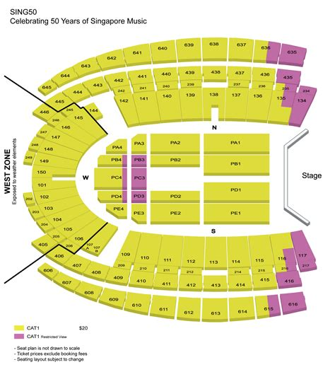 singapore national stadium seating plan sing50 singapore sports hub