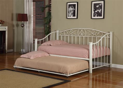 Daybed Bed Frame White Finish Metal Size Day Bed Daybed Frame With Trundle New Ebay