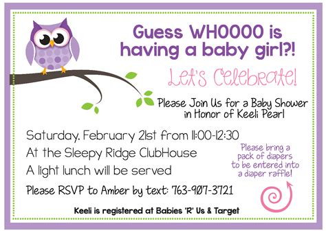 Do Go To Baby Showers by Free Printable Owl Baby Shower Invitations Other