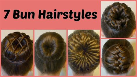 different ways of using a hair bun donut 7 ways to make a bun using a hair donut compilation 1