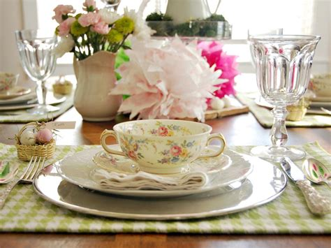 spring table settings colorful spring table setting hgtv
