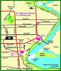 niagara falls maps and directions parking and customs