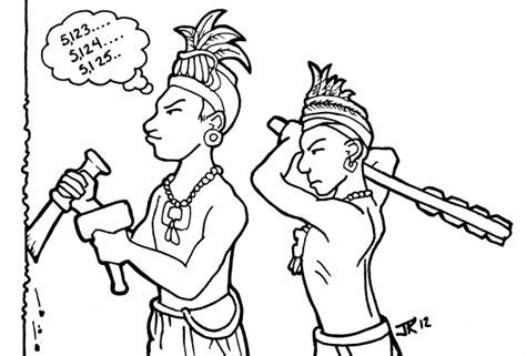 How To Draw A Mayan Person
