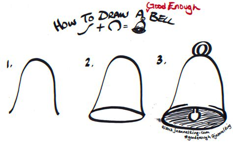 how to bell a jeannelking how to draw a enough bell three ways