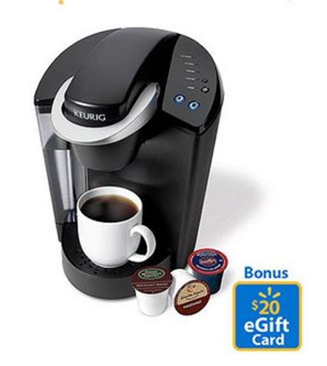 Walmart Ecard Gift Card - keurig elite single serve coffeemaker just 98 free 20 walmart gift card