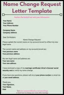 Request Letter Change Of Name Use This Name Change Request Letter Template To Notify Appropriate Companies About Your New Name
