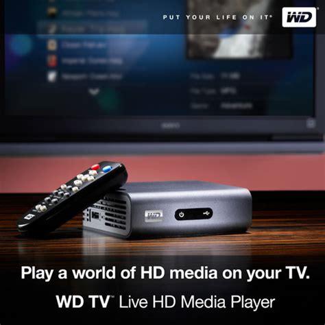 western digital media player best buy western digital wdbaan0000nbk wd tv live gets official