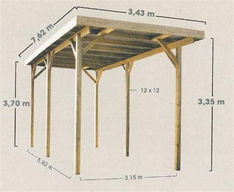 Carport Dimensions by Carport En Bois Pour Cing Car Chez Piscineo