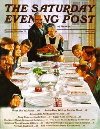 norman rockwell dinner table saturday evening post thanksgiving saturday evening post