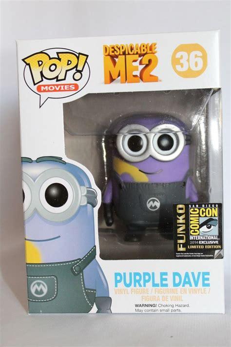 Funko Pop Dave Metalic Sdcc Minion Despicable funko pop sdcc 2014 despicable me 2 purple minion dave san diego comic con san diego minions