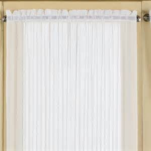 united curtain co batiste door rod pocket single