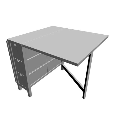 Norden gateleg table white design and decorate your room in 3d
