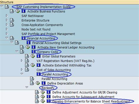 tutorial enhancements sap enhancements for balance sheet readjustment sap sap