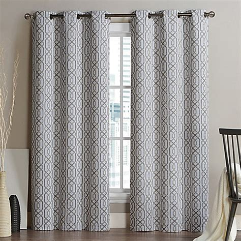 alexander curtains vcny home alexander grommet top blackout window curtain