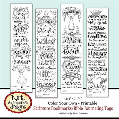 printable journaling tags luke 1 4 color your own bible bookmarks bible journaling