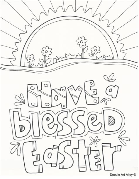 easter coloring pages free christian easter coloring pages religious doodles
