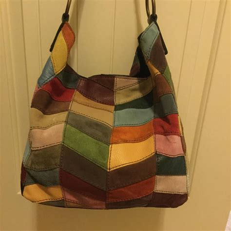 Lucky Brand Patchwork Hobo - lucky brand multi leather suede patchwork slouch hobo bag