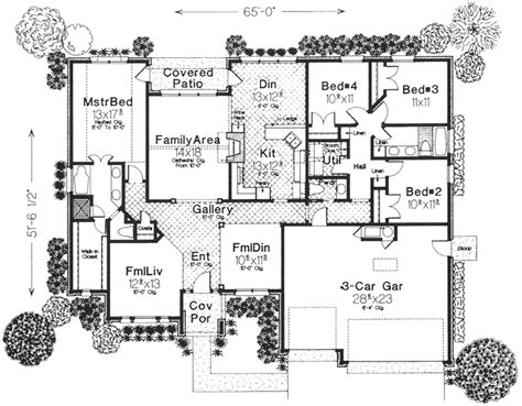 European Style House Plans 2231 Square Foot Home 1 European Style One Story House Plans